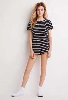 stripe top and short