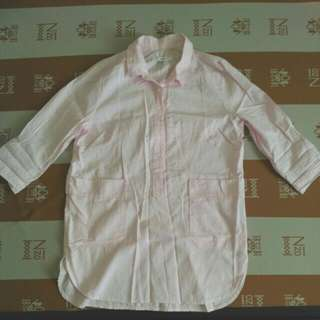 韓製zaal粉色襯衫