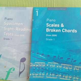 Piano ABRSM Grade 1 Scales and Sight Reading