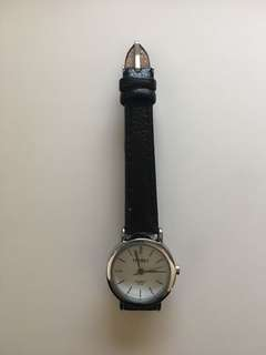 Black silver lined watch