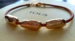 [New] TOUS 18K gold and leather bracelet