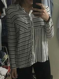 Button up stripped top