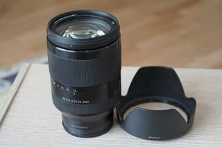 Sony FE 24-240mm OSS full frame zoom lens