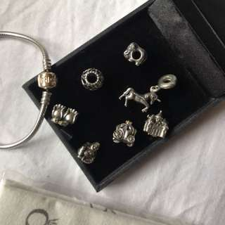 Genuine PANDORA collection gold and silver