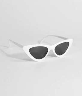 Vintage Cateye Sunglasses (White)