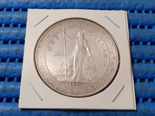 1930B British Trade Dollar Silver Coin