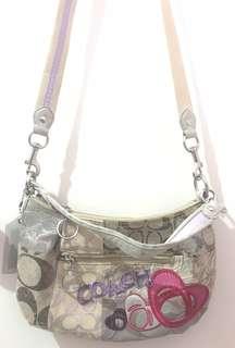 Authentic 2 way Coach mono patches design bag