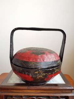 Old Chinese wedding basket