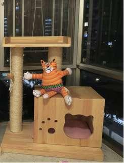 貓爬架 實木貓傢俬