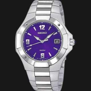 Seiko Classic SGEA43 Jam Tangan Pria Blue Dial Silver Steel Original