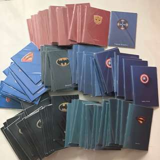 All 100pc Superhero notebooks