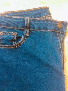 韓版彈性2L牛仔褲