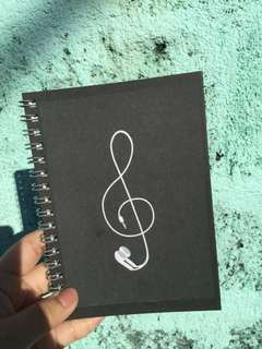 Muji Earphone Customized Notebook