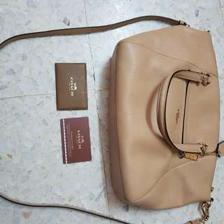 Coach Monogramming Leather Strape Bag