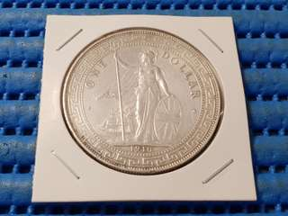 1910B British Trade Dollar Silver Coin