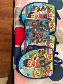 Paw patrol bag and stationary