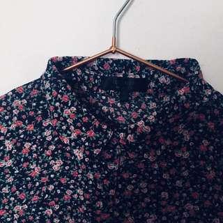 Floral Cotton On Blouse