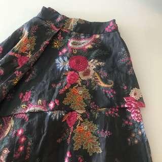 正韓 時尚 不規則 瘦腰長裙