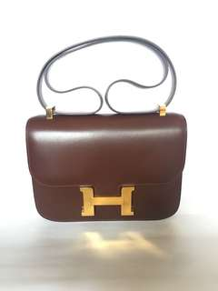 Hermes Constance 23 Brown GHW G stamp