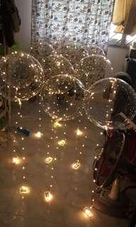 Gold led balloon helium