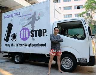 Muay Thai Mobile Gym Open at Yishun