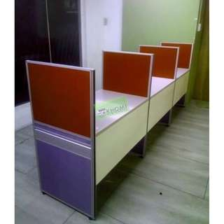 15 SEATER WORKSTATIONS CUBICLES 100X60 TABLE