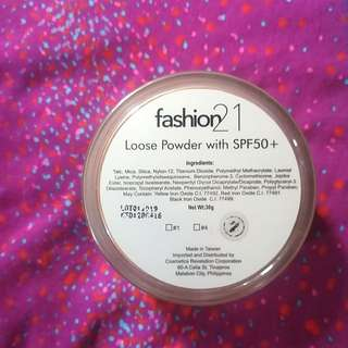 fashion 21 sparkle lose powder