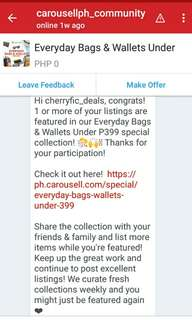 Thanks again Carousell! Godbless everyone!