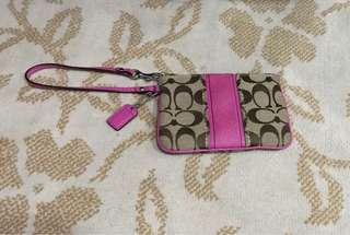 Authentic Coach Small Pink Pouch (reprice)