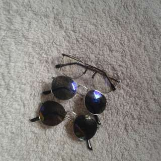 Bundle 2 sunglasses and 1 specs