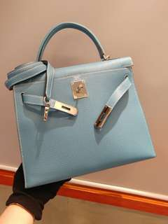 Hermes kelly 28 togo bluejeans