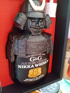 舊版余市武將G&G威士忌750ml連盒。