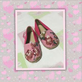 Pink & Old Rose Baby Shoes
