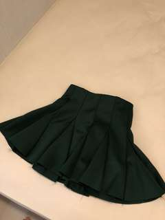 Green twirl skirt