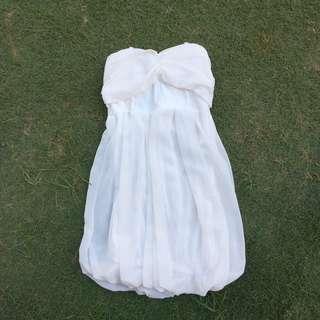 Formal white tube dress