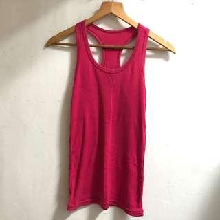 🚚 素面羅紋背心-桃紅色 #五十元好物