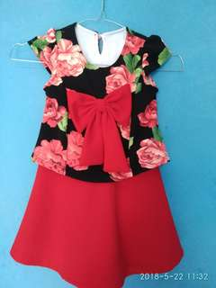 Dress flower bow