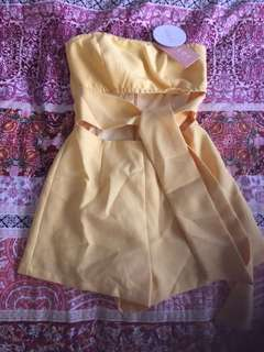 Yellow playsuit -NEW