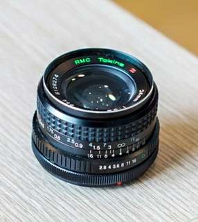 Canon FD 24mm 2.8 wide angle lens by Tokina
