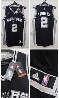 Jersey Adidas Basketball NBA Swingman Black Spurs ( Leonard)