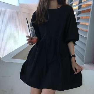 Harajuku Black Babydoll Dress