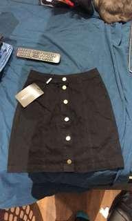 Hight Waist Denim Skirt