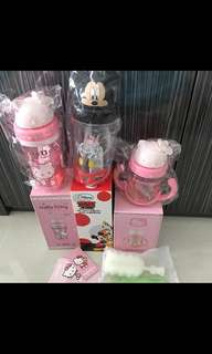 💦INSTOCKS! BNIB AUTHENTIC DISNEY BPA (Mickey Mouse/Hello Kitty Water bottle/Cup!) - with free bottle brush!