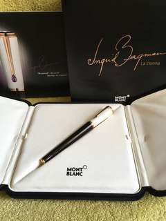 Mont Blanc Fountain pen Ingrid Bergman la Donna special edition