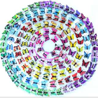 3D butterfly wall sticker Stiker Hias Dinding Magnet Kupu-Kupu KHM243