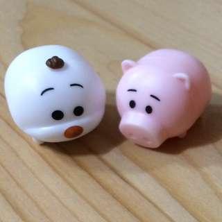 豬豬及造型小figures擺設