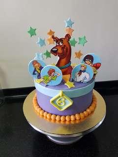 Customised Fondant Cake/ scooby doo