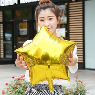 Star foil balloon 18""