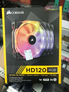 CORSAIR HD120 RGB 3fan + LED Controller