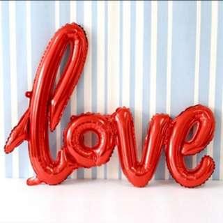 Big Love Letters Foil Balloon 108x64cm